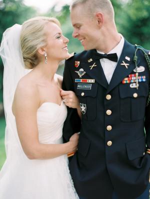 Groom in Army Dress Uniform
