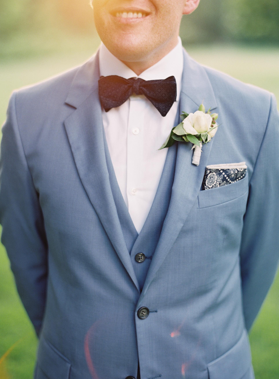 Groom in Blue Suit - Elizabeth Anne Designs: The Wedding Blog