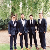 Groomsmen in Dark Blue Suits