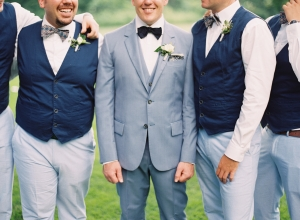 Groomsmen in Navy and Blue