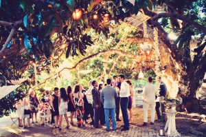 Guests at Maui Wedding