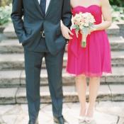 Hot Pink Bridesmaids Dress
