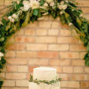 Ivory Wedding Cake With Greenery