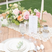 Lace Table Linens Reception Ideas