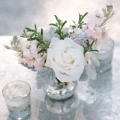 Lavender and Ivory Wedding Flowers