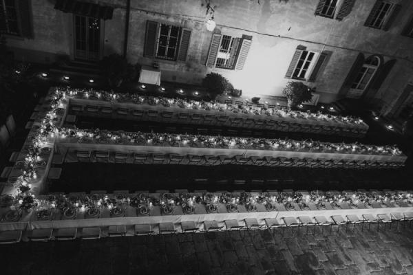 Long Estate Tables at Wedding
