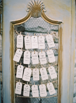 Mirrored Seating Chart for Reception