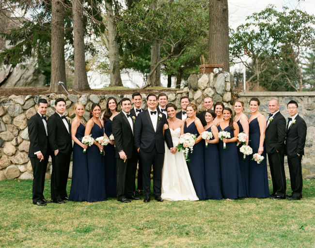 Navy and Black Bridal Party - Elizabeth Anne Designs: The Wedding Blog