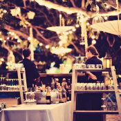 Outdoor Bar at Wedding