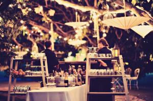Outdoor Bar at Wedding
