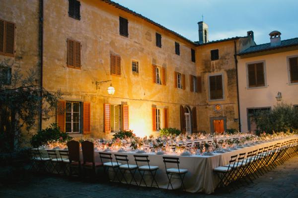 Outdoor Evening Reception in Italy