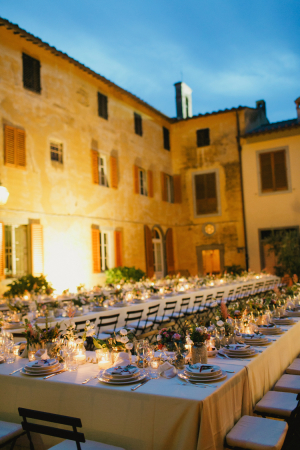 Outdoor Italian Wedding Reception
