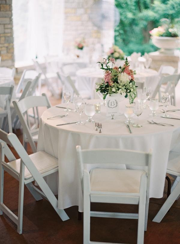 Outdoor Spring Reception Tables