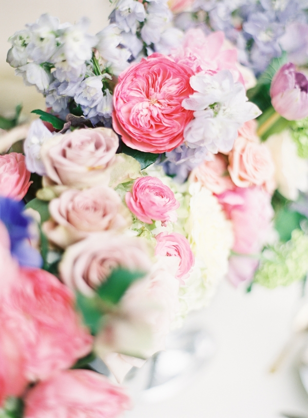 Pale Purple and Pink Wedding Flowers