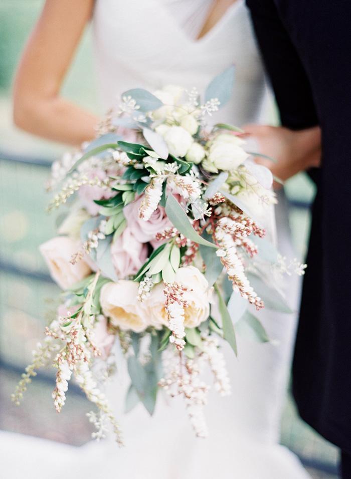 Pastel Cascading Bouquet By Michael George Flowers - Elizabeth Anne ...