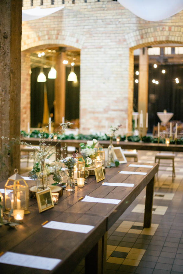 Picture Frame and Lantern Centerpiece