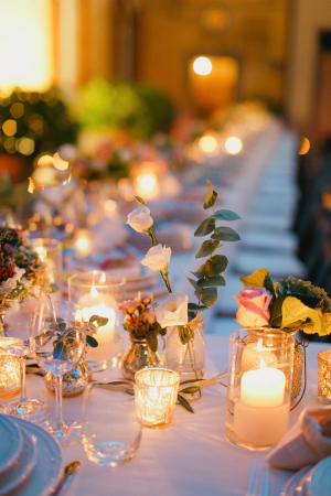 Pillar Candles in Centerpiece