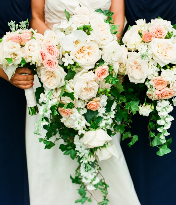Pink Cascade Bouquets