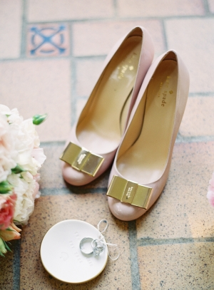 Pink and Gold Kate Spade Pumps