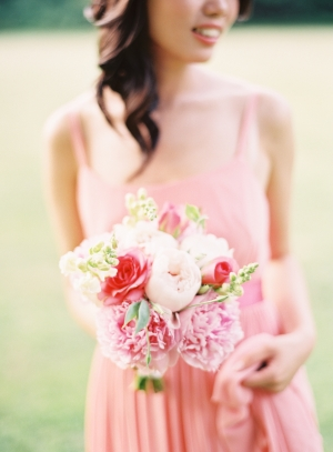 Pink and Peach Floral Bouquet