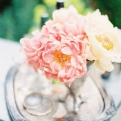 Pink and Yellow Peonies