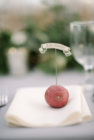 Place Card in Potato