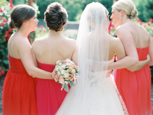Red and Pink Bridesmaids