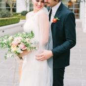 Romantic Bride and Groom Attire