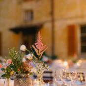 Romantic Floral Table Decor Italian Reception Ideas