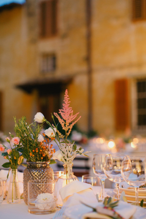 Romantic Floral Table Decor Italian Reception Ideas