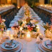 Romantic Florals at Italian Wedding Reception