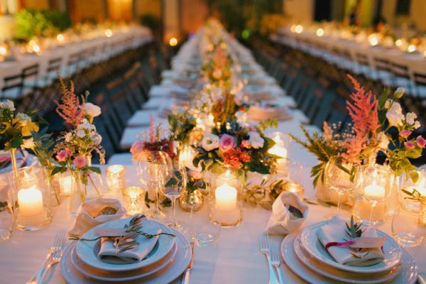 Romantic Florals at Italian Wedding Reception