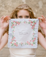 Scalloped Edge Floral Hanky