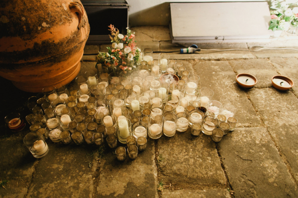 Sea of Candles at Wedding