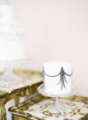 Silver Flaked Wedding Cake