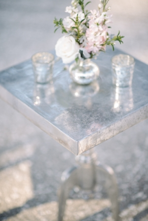 Silver and Lavender Wedding Lounge Area
