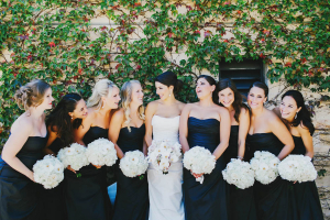 Strapless Black Bridesmaids Dresses