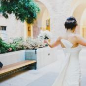 Structured Back Sash Bridal Gown