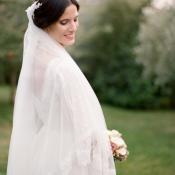 Veil With Lace Trim