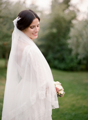 Veil With Lace Trim