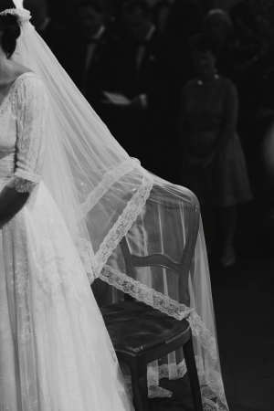 Veil at Church Wedding