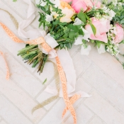Vintage Ribbons on Bouquet
