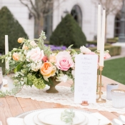 Vintage Style Reception Table Ideas