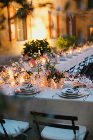 Wildflower Centerpieces Tuscany Wedding