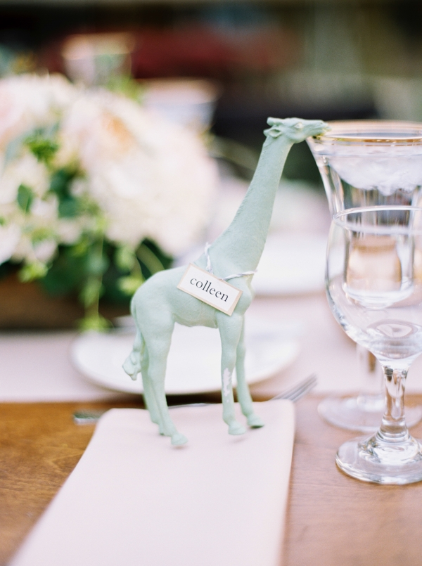 Zoo Animal Place Card