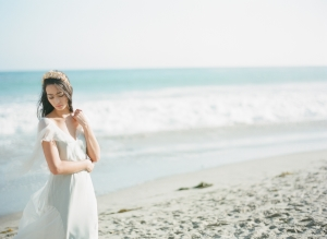Beach Bride in Gossamer Gown