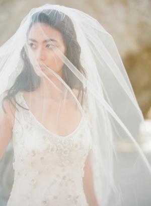 Beach Bride in Veil