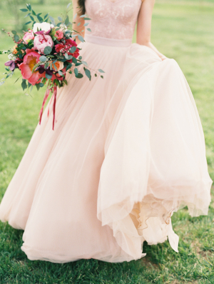 Blush Wedding Gown