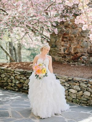 Bride Under Cherry Blossoms