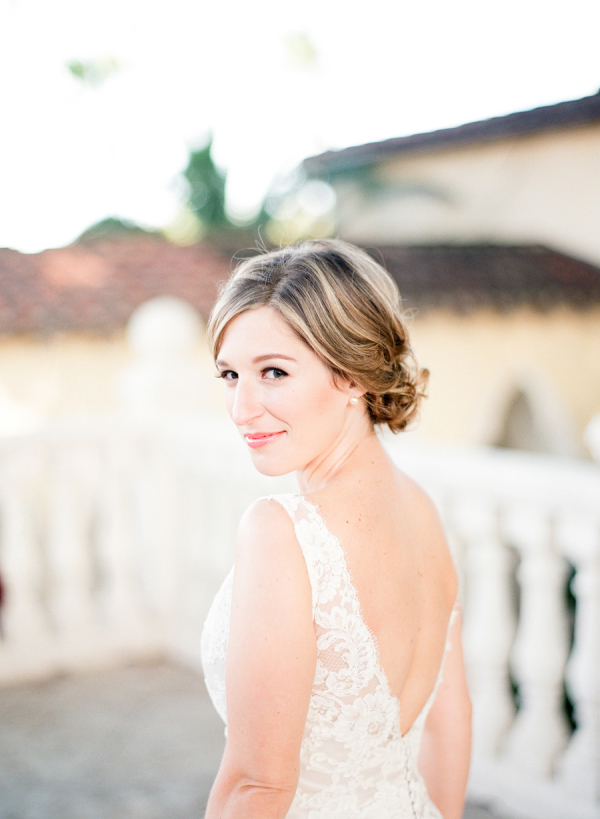 Bride in Lace Gown1